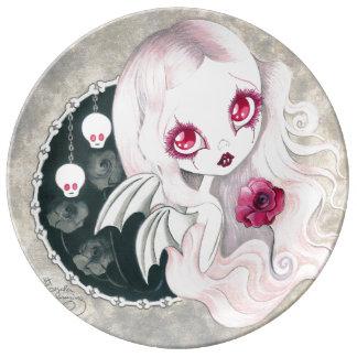 """Vampire Girl: """"Arabella"""" Porcelain Plate"""