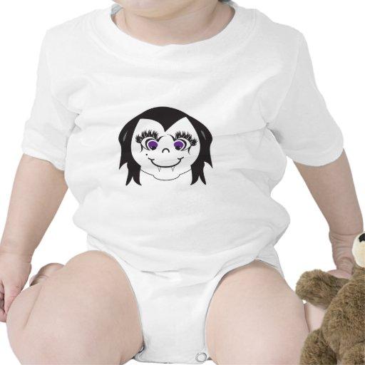 Vampire Girl Face Tee Shirts