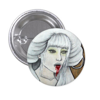 Vampire girl - Hematemesis - dark horror art Pinback Button