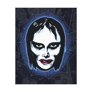 Vampire Girl (horror) Canvas Print