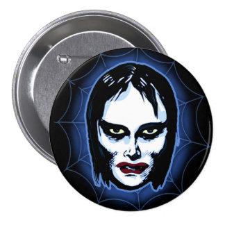 Vampire Girl (horror) Pinback Button
