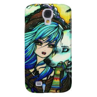 Vampire Girl White Wolf Fantasy Art Samsung S4 Case