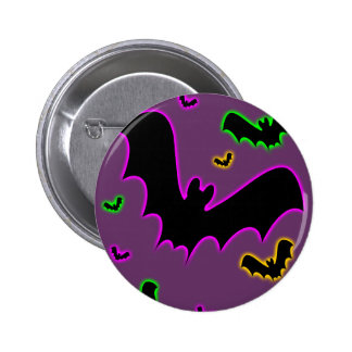 Vampire Glow Bats Button