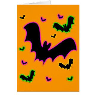 Vampire Glow Bats Card