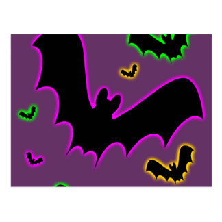 Vampire Glow Bats Postcard