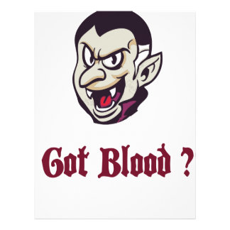 Vampire Got Blood Design Letterhead