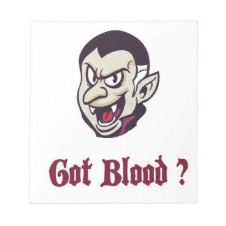Vampire Got Blood Design Notepad