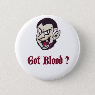 Vampire Got Blood Design Pinback Button
