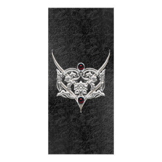 Vampire Goth Faux Leather Jeweled Wedding Rack Card
