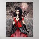 Vampire Gothic Fairy Art Poster Print print