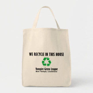 Vampire Green League - We Recycle Grocery Tote Bag