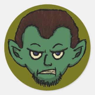 Vampire Growl Classic Round Sticker
