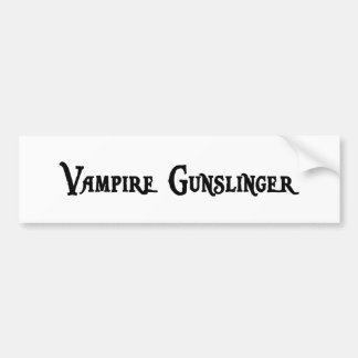 Vampire Gunslinger Sticker