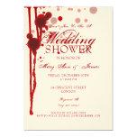 Vampire Halloween Couples Shower Fake Blood Card