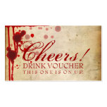 Vampire Halloween Drink Voucher Fake Blood Red Double-Sided Standard Business Cards (Pack Of 100)