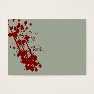Vampire Halloween Fake Blood Wedding Placecards Business Card