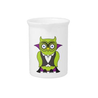 Vampire Halloween Owl Beverage Pitcher