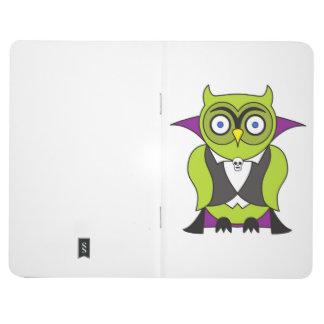 Vampire Halloween Owl Journal