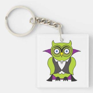 Vampire Halloween Owl Keychain