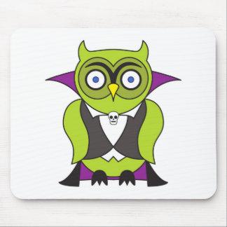 Vampire Halloween Owl Mouse Pad