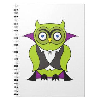 Vampire Halloween Owl Notebook
