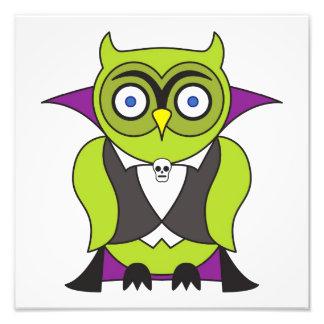 Vampire Halloween Owl Photo Print