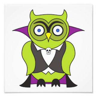 Vampire Halloween Owl Photo