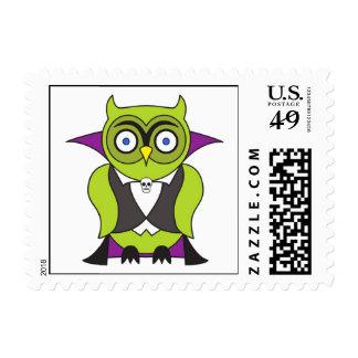 Vampire Halloween Owl Postage