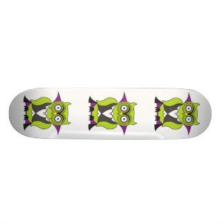 Vampire Halloween Owl Custom Skate Board