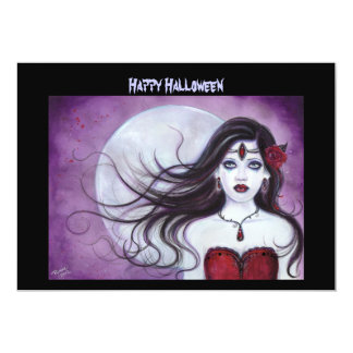 Vampire Halloween party invitations By Renee