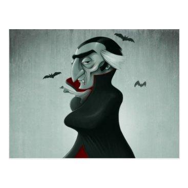 Halloween Themed Vampire halloween postcard