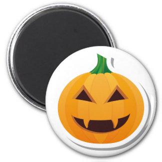 Vampire Halloween pumpkin 2 Inch Round Magnet