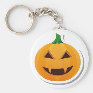 Vampire Halloween pumpkin Basic Round Button Keychain