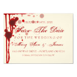 Vampire Halloween Save The Date Fake Blood Red Card