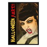 Vampire Halloween sexy comic template Personalized Invite
