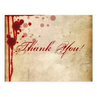 Vampire Halloween Thank You Note Fake Blood Red Postcard