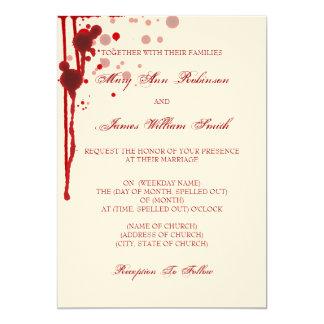 Vampire Halloween Wedding Fake Blood Red Card