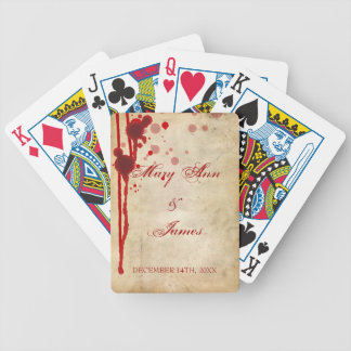 Vampire Halloween Wedding Favor Fake Blood Red Bicycle Playing Cards