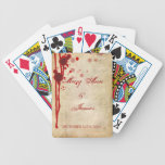 Vampire Halloween Wedding Favor Fake Blood Red Card Decks