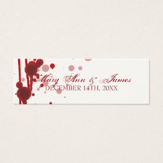 Vampire Halloween Wedding Favor Tag Fake Blood Red