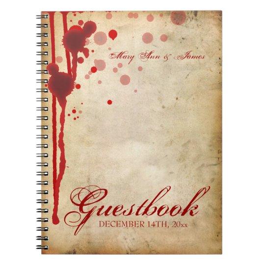 Halloween Wedding Gift Ideas: Vampire Halloween Wedding Guestbook Fake Blood Red