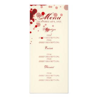 Vampire Halloween Wedding Menu Fake Blood Red Card