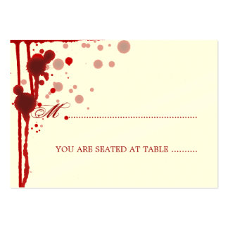 Vampire Halloween Wedding Placecards Fake Blood Large Business Card