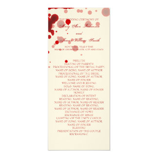 Vampire Halloween Wedding Program Fake Blood Red 4x9.25 Paper Invitation Card