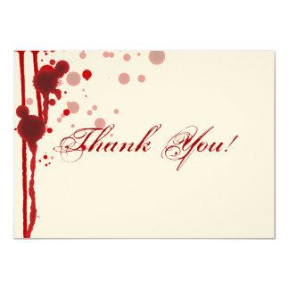 Vampire Halloween Wedding Thank You Fake Blood Red Card
