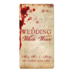 Vampire Halloween Wine Label Fake Blood Red