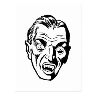 Vampire Head Vintage Illustration Postcard