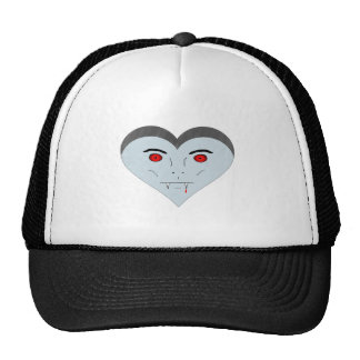 Vampire Heart Face Mesh Hat