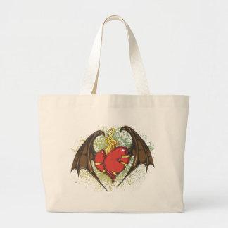 Vampire Heart Large Tote Bag