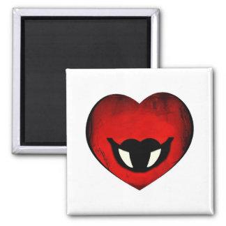 Vampire Heart Smiley Magnet